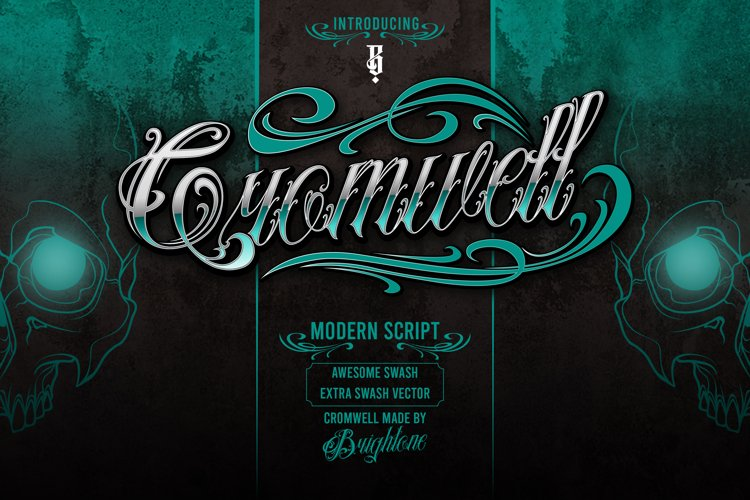 Cromwell Tattoo lettering example image 1