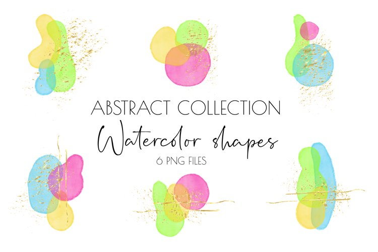 Boho clipart,Abstract Shapes,abstract art,watercolor clipart