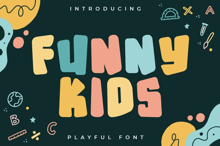 Funny Kids - Playful Font example image 1