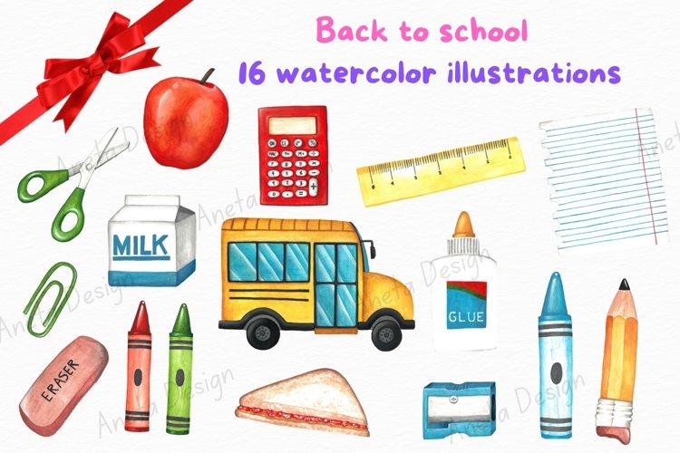 Back to school clip art, School clip art, Education clip art example image 1