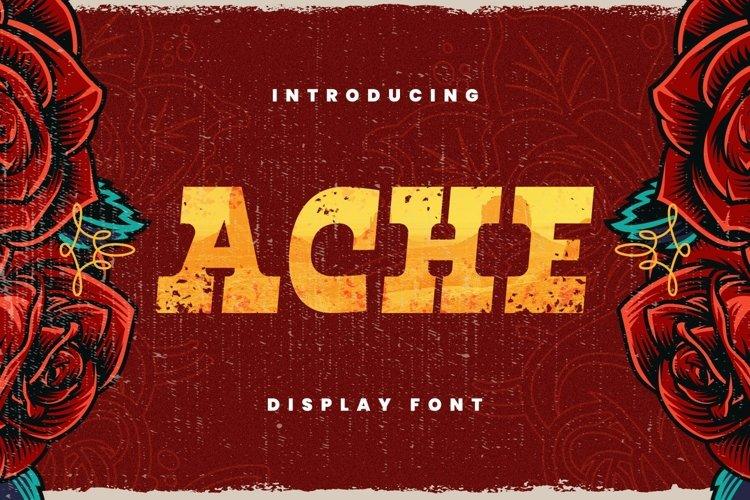 Ache Font example image 1