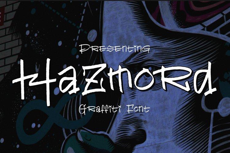 Hazmord Font example image 1