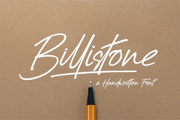 Billistone A Handwritten Font example image 1