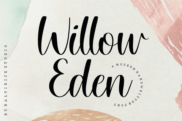 Willow Eden Modern Handwritten Font example image 1