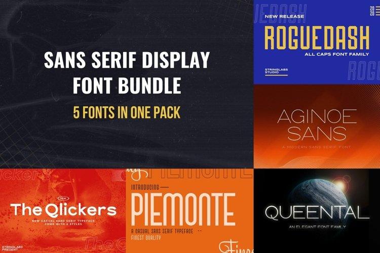 Sans Serif Display Font Bundle example image 1