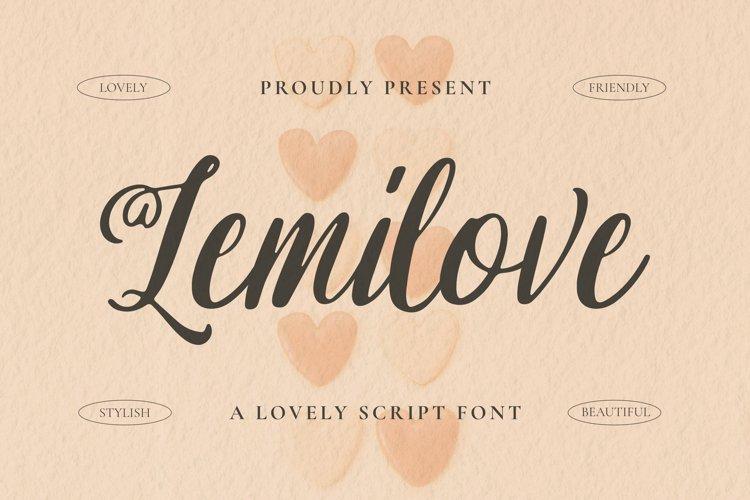 Lemilove Font example image 1
