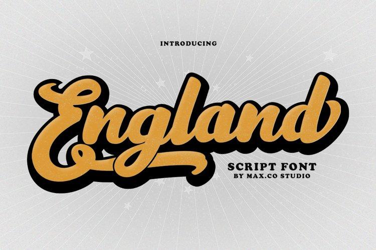 England Script Font example image 1