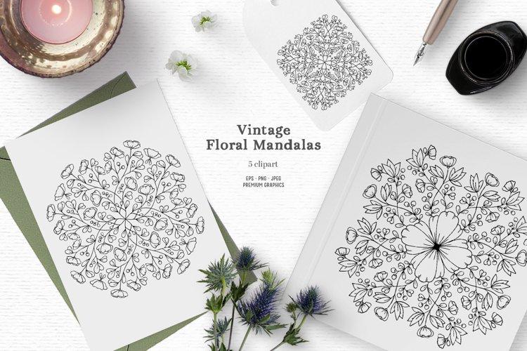 Vintage floral mandalas | Victorian digital stamps
