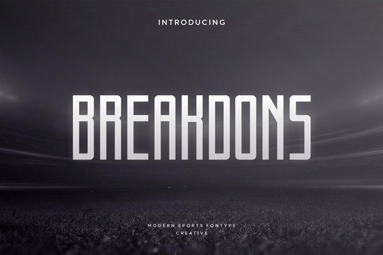 Breakdons example image 1