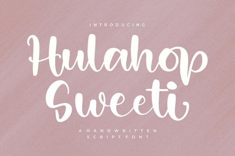Hulahop Sweet - Handwritten Script Font example image 1