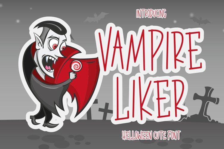 Vampire Liker - Halloween Font example image 1