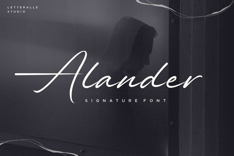 Alander Script Font example image 1