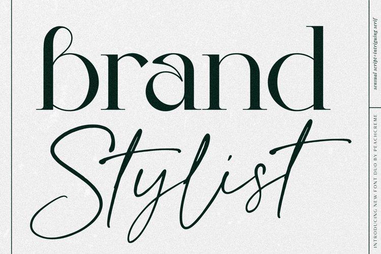 Brand Stylist // Modern Script font example image 1