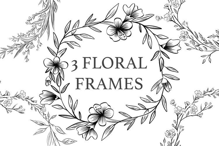 3 Floral Frames