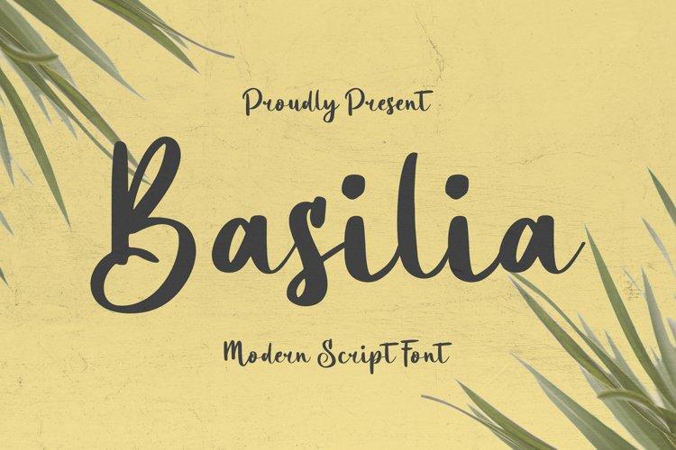 Basilia Font example image 1