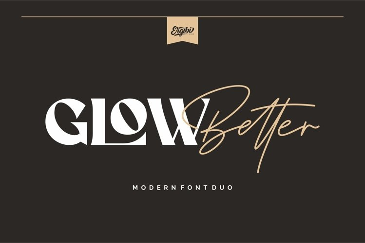 Glow Better - Modern Font Duo example image 1
