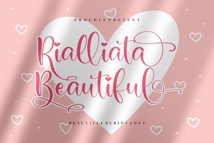 Rialliata Beautiful Beautiful Script Font example image 1