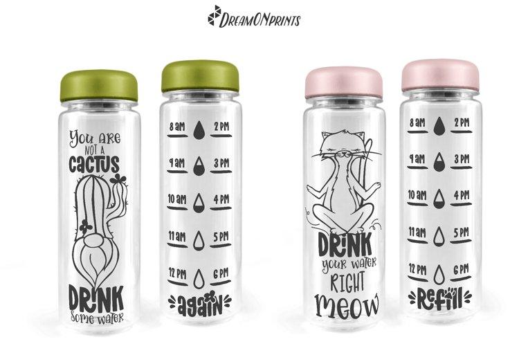 Water Bottle Tracker SVG Bundle   Drink Your Water - Free Design of The Week Design9