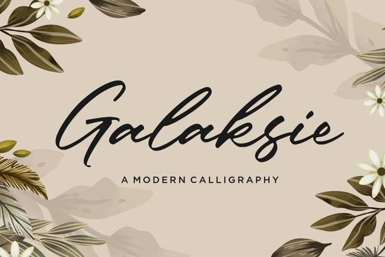 Galaksie Modern Calligraphy Font example image 1