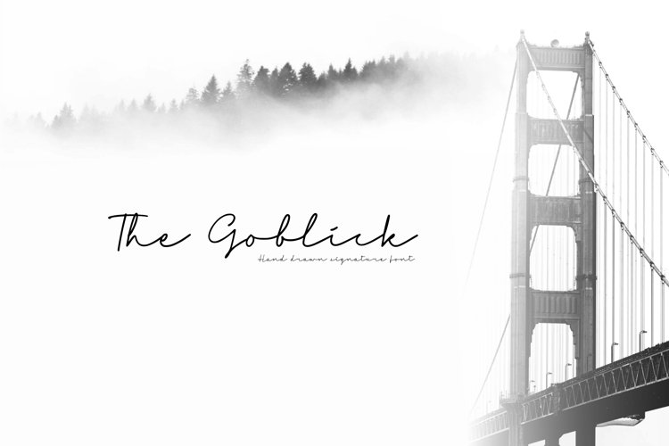 Web Font - The Goblick example image 1