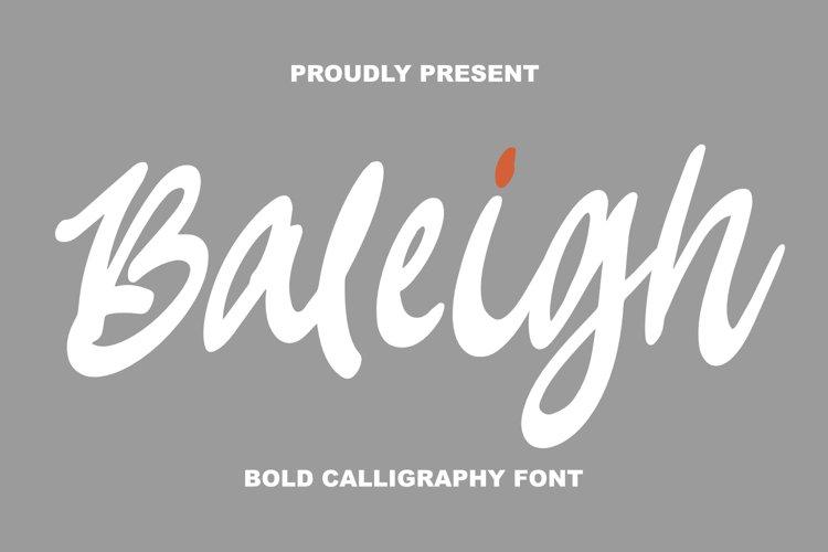 Baleigh Bold Calligraphy