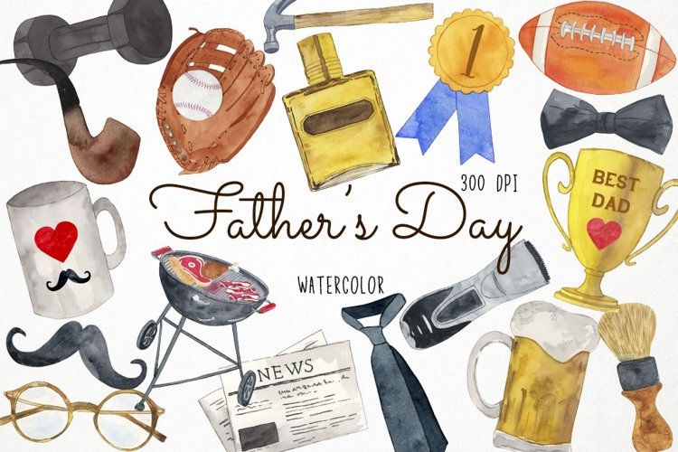 Watercolor Fathers Day Clipart, Father Clipart, Dad Clipart