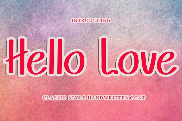 Hello Love Reguler / Sans Serif example image 1