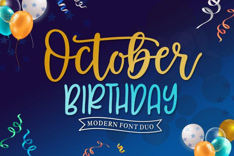 October Birthday example image 1