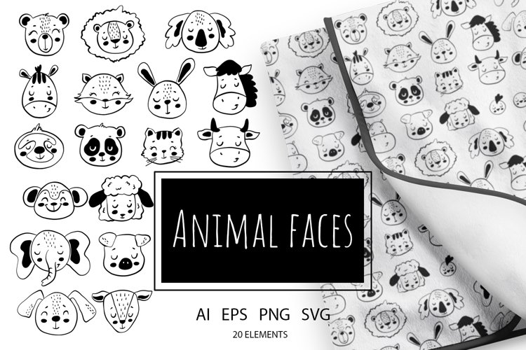 Doodle Animal Faces