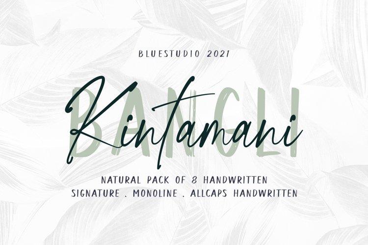 Bangli Kintamani 8 Handwritten Fonts example image 1