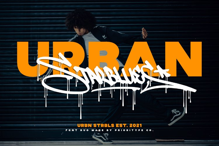 Urban Starblues - Font Duo example image 1