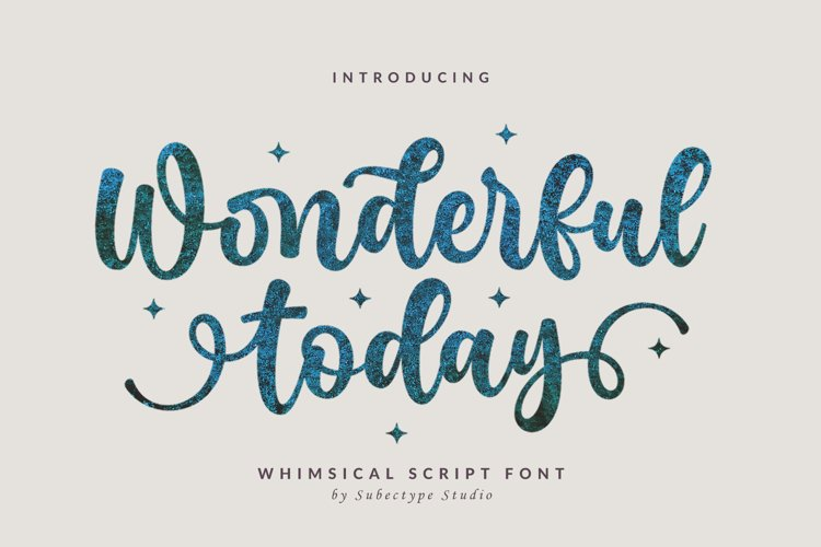 Wonderful Today - A Whimsical Script Font example image 1