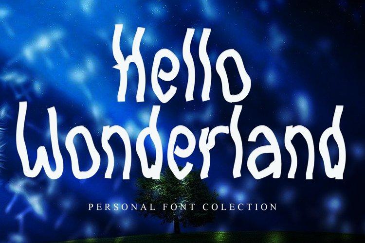 Hello Wonderland example image 1