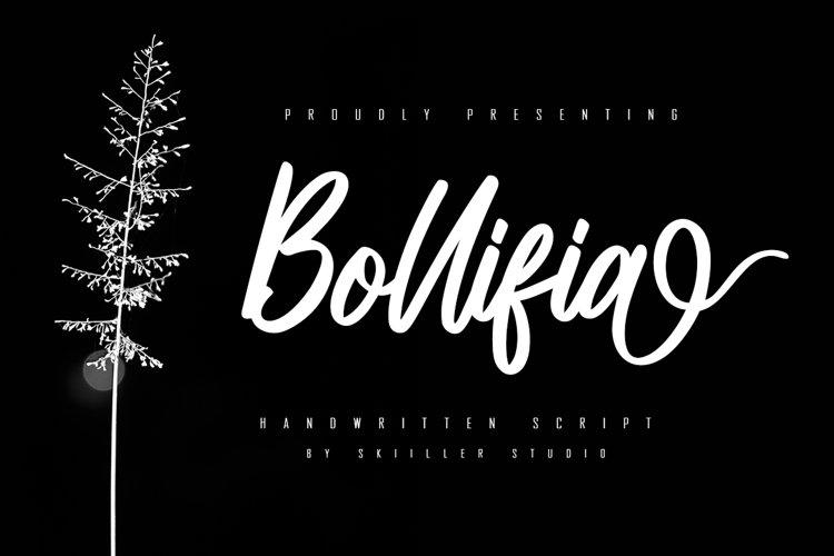 Bollifia Handwritten Script Font example image 1