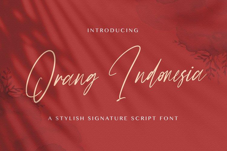Orang Indonesia - Handwritten Font example image 1