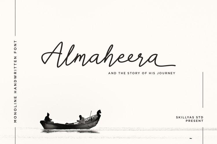 Almaheera - modern monoline font example image 1