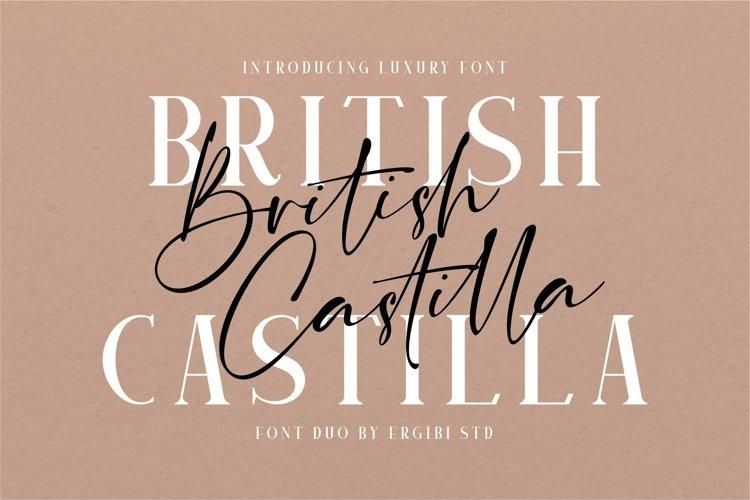British Castilla - Luxury Font Duo example image 1