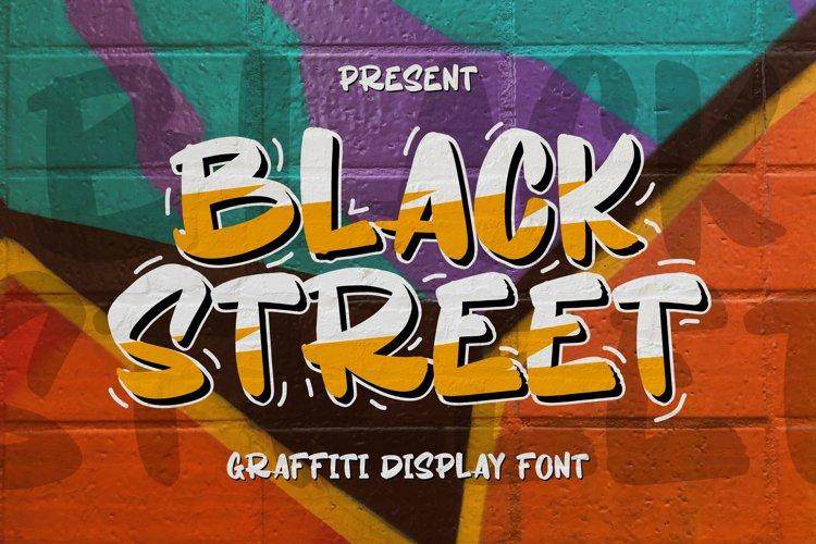 Feature Fonts - Black Street Font
