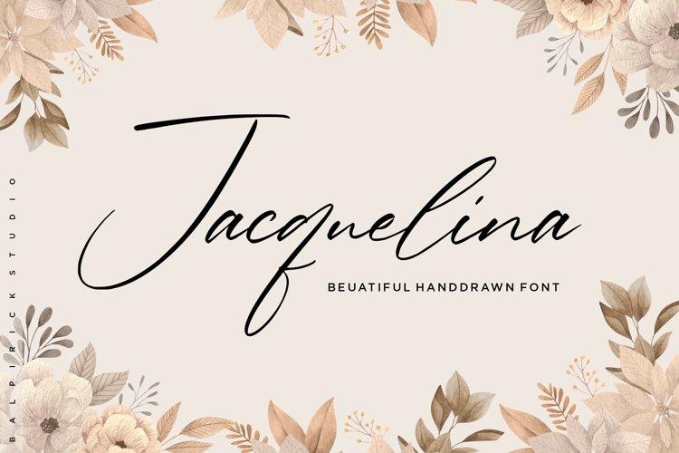 Jacquelina Beautiful Handdrawn Font example image 1