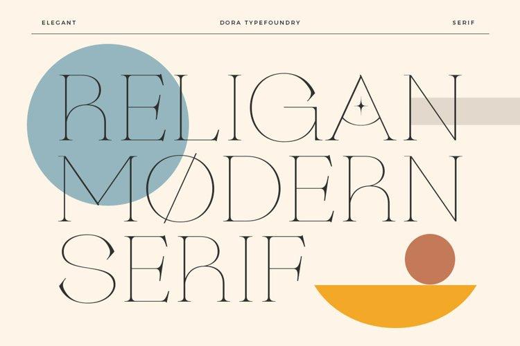 Religan - Modern Serif Font example image 1