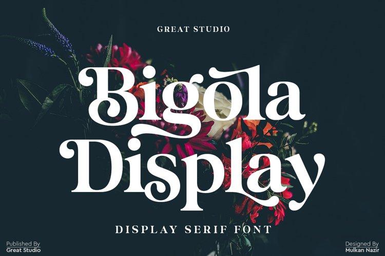 Bigola Display Serif example image 1
