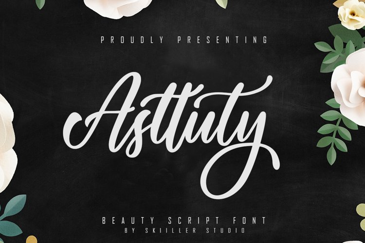 Asttuty Beauty Script Font example image 1