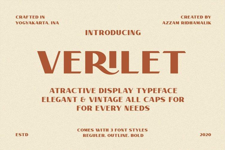 Verilet Font example image 1