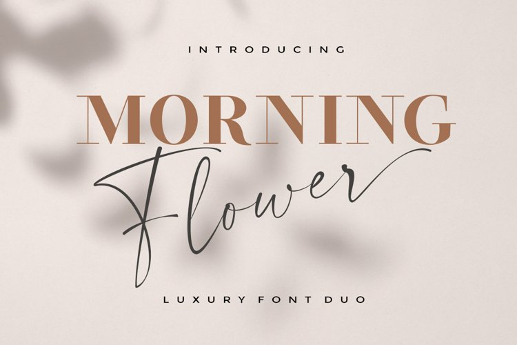 Morning Flower Font Duo example image 1
