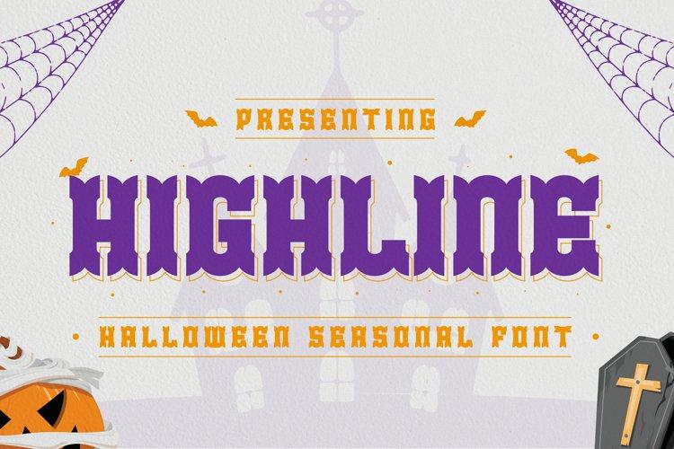 Highline Font example image 1