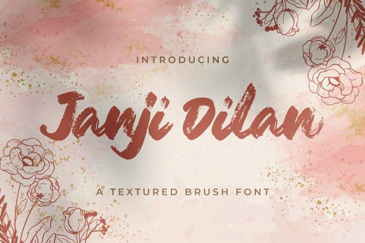 Janji Dilan - Textured Brush Font example image 1