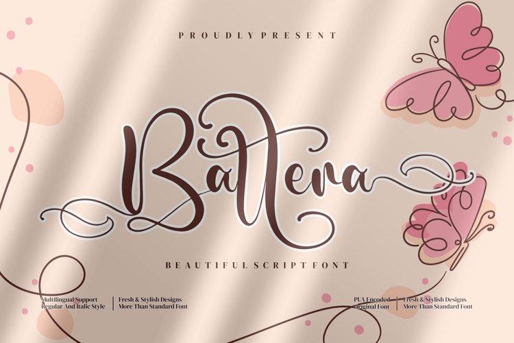 Battera - Beautiful Script Font example image 1