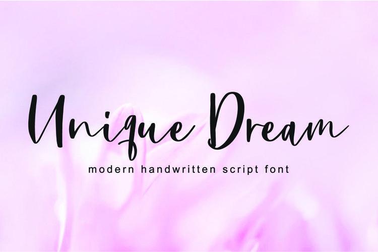 Unique Dream Font