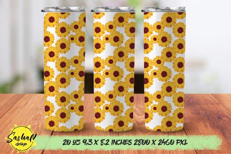 Sunflower tumbler, 20 oz skinny tumbler sublimation png