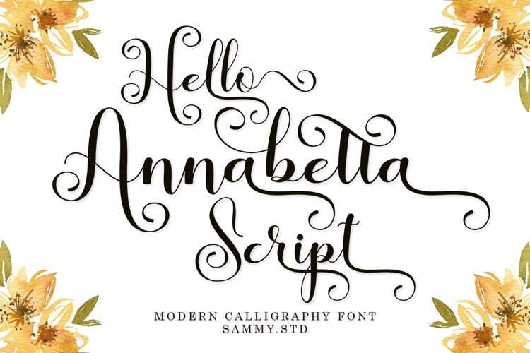 Hello Annabetta Script example image 1